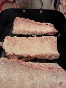 ribs searing