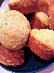 bowl of corn muffins