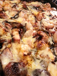 roasted onions with gruyere
