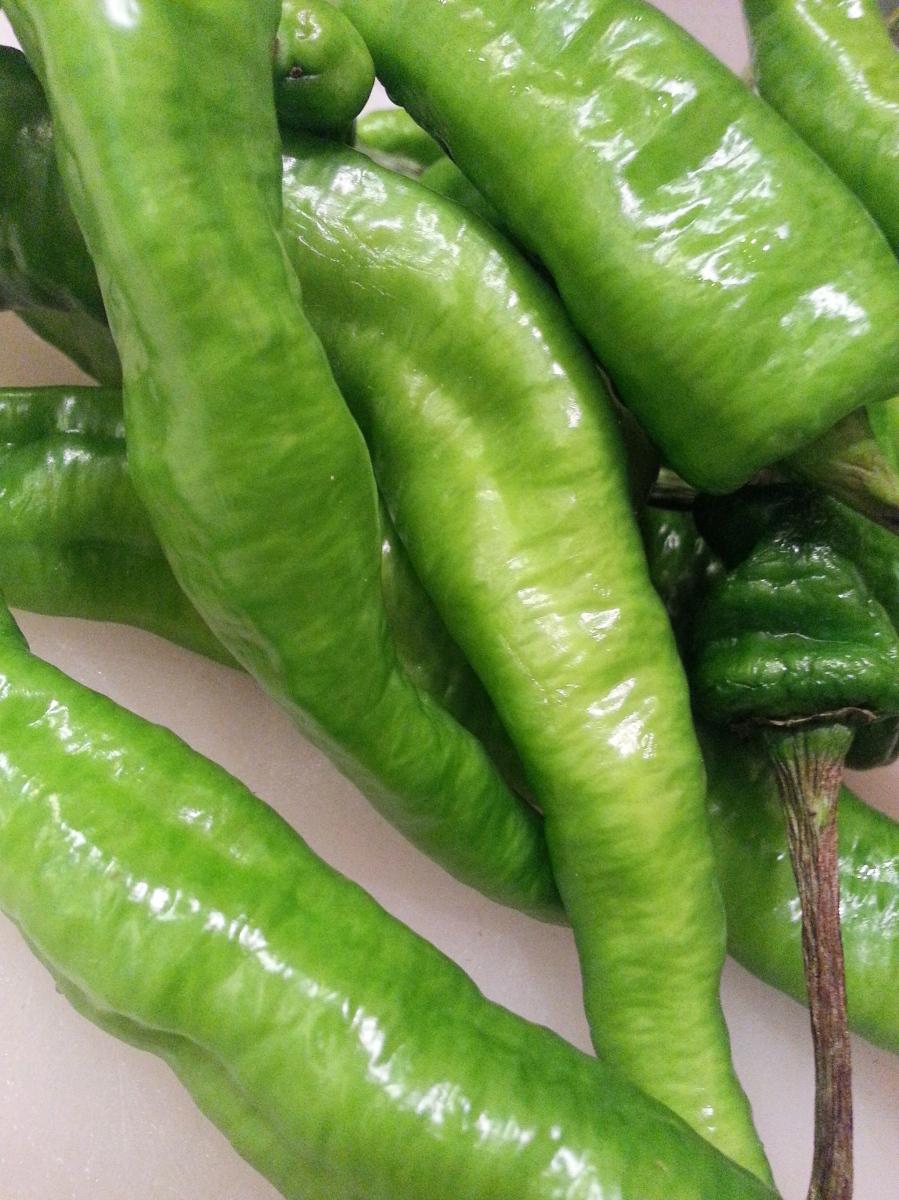 long hot green peppers