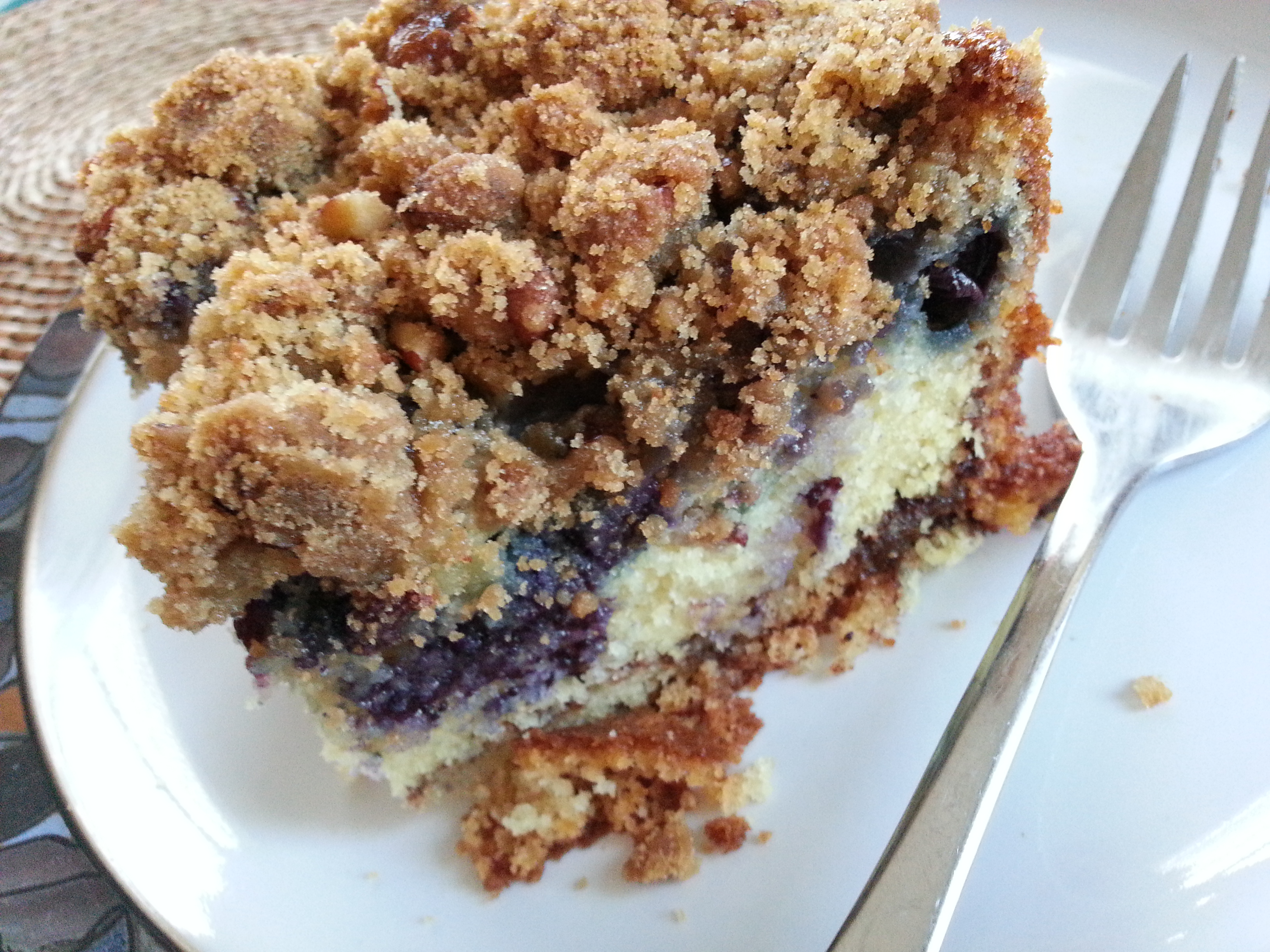 blueberry coffee cake ( from Bon Appetit )