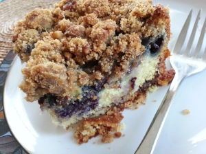 blueberry cornmeal slice