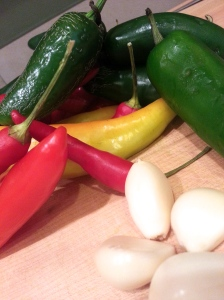 peppers and garlic