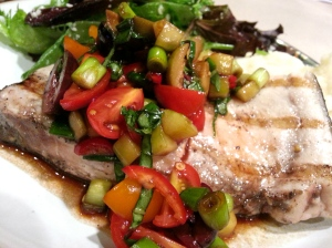 swordfish and tomato salsa