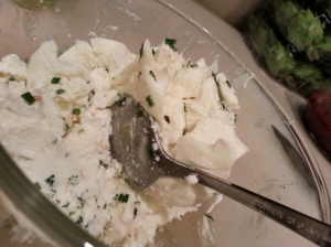 goat cheese mixture